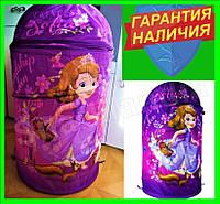 Корзина детская для игрушек  Sofia the First  Disney София Дисней фиолетовая