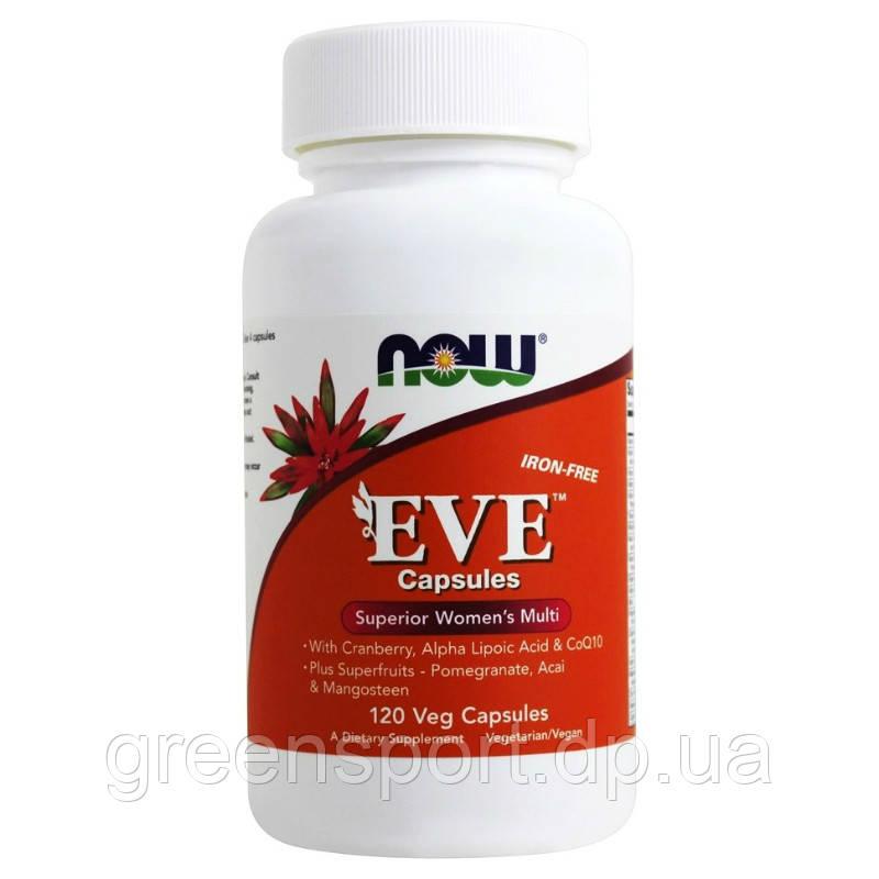 Мультивитамины для женщин Now Foods EVE(120 капсул)
