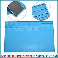 Коврик для пайки силиконовый термоковрик с магнитом TE504 (A201) 345*245мм мат для разборки и пайки
