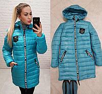 Куртка зимняя приталенная арт. 212/2 бирюзовая, фото 1