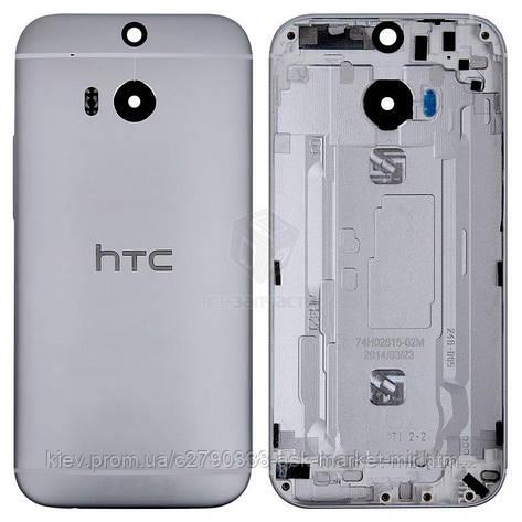 Задняя панель корпуса (крышка аккумулятора) для HTC One M8 Original Grey, фото 2