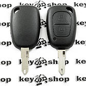 Корпус авто ключа для RENAULT Master, Traffic (рено мастер, трафик) 2 кнопки, лезвие NE 73