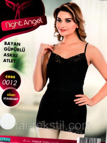 Night Angel женская майка отличного качества (Черный,белый цвет) № 0012, фото 2