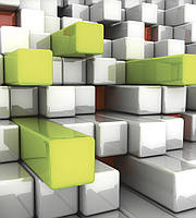 Фотообои флизелиновые 3D Фигуры 225х250 см Кубики (MS-3-0286)