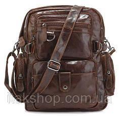 Рюкзак Vintage 14232 кожаный Коричневый, Коричневый, фото 2