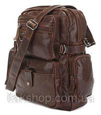 Рюкзак Vintage 14232 кожаный Коричневый, Коричневый, фото 3