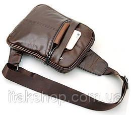 Рюкзак Vintage 14395 кожаный Коричневый, Коричневый, фото 3