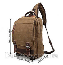 Рюкзак Vintage 14481 Бежевый, Бежевый, фото 2