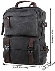 Рюкзак большой Vintage 14589 Серый, Серый, фото 2