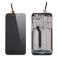 Экран для Xiaomi Redmi 5A/Redmi Go и сенсор (Модуль) черный, с передней панелью