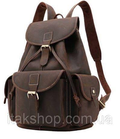 Рюкзак Vintage 14713 кожаный Коричневый, Коричневый