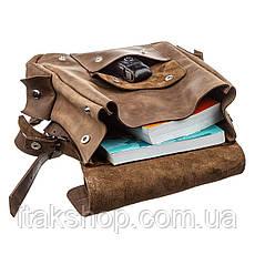 Рюкзак зі шкіри Crazy horse унісекс SHVIGEL 13948 Коричневий., Коричневий, фото 2
