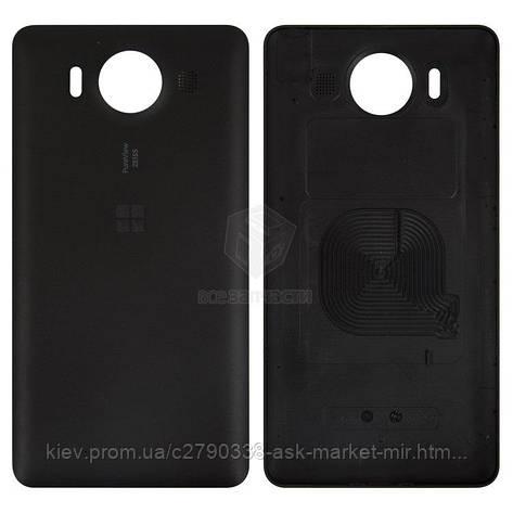 Задня панель корпусу (кришка акумулятора) для Microsoft Lumia 950 Dual SIM RM-1118 Original Black, фото 2