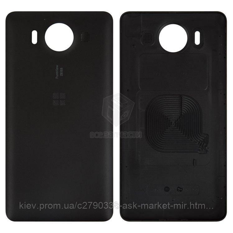 Задня панель корпусу (кришка акумулятора) для Microsoft Lumia 950 Dual SIM RM-1118 Original Black