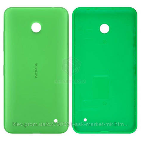 Задня панель корпусу (кришка акумулятора) для Nokia Lumia 630, Lumia 635 RM-974 Original Green З бічними кнопками, фото 2