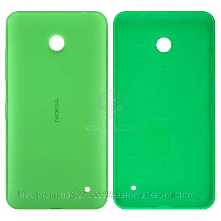Задня панель корпусу (кришка акумулятора) для Nokia Lumia 630, Lumia 635 RM-974 Original Green З бічними кнопками