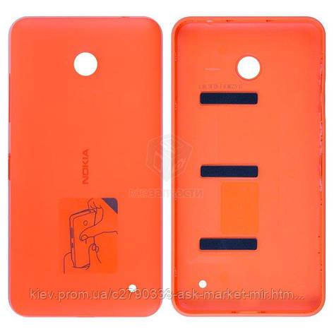 Задняя панель корпуса (крышка аккумулятора) для Nokia Lumia 630, Lumia 635 RM-974 Original Orange С боковыми, фото 2