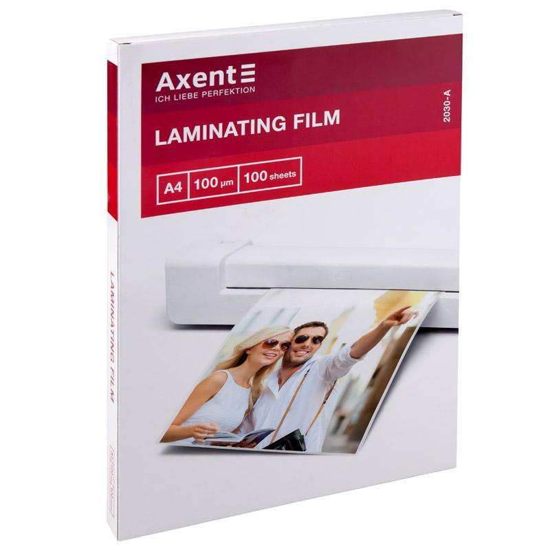 Плёнка для ламинирования Axent 100 мкм A4 216 x 303 мм 100 шт