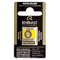 Краска акварельная Rembrandt 1,8 мл кювета (207) Кадмий желтый лимонный