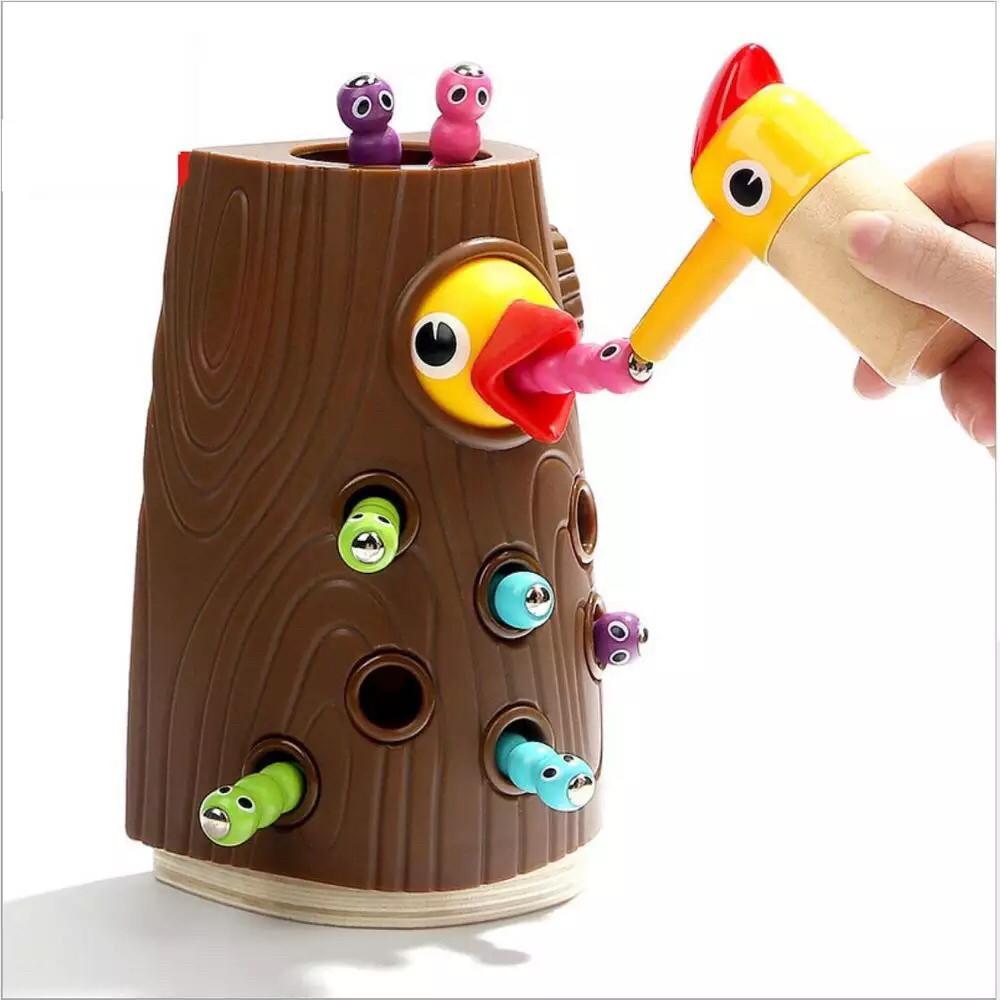 Накорми птенца. Магнитная игра с червячками Top Bright