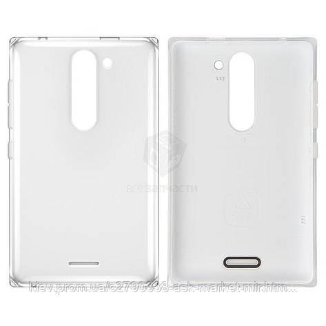 Задняя панель корпуса (крышка аккумулятора) для Nokia Asha 502 Original White С боковыми кнопками, фото 2