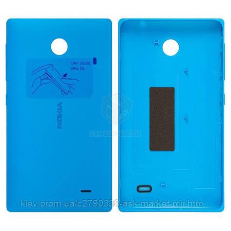 Задняя панель корпуса (крышка аккумулятора) для Nokia X Dual Sim RM-980 Original Blue С боковыми кнопками, фото 2