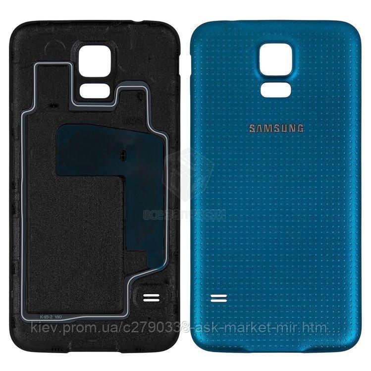 Задня панель корпусу (кришка акумулятора) для Samsung Galaxy S5 (G900A, G900F, G900H, G900I, G900T) Original Dark Blue