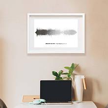 """Постер """"Картина голосом: наша песня"""" персонализированный А3"""