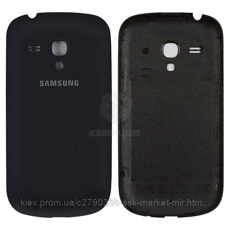 Задняя панель корпуса (крышка аккумулятора) для Samsung Galaxy S3 mini I8190 Original Dark Blue, фото 2