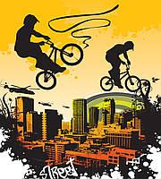 Фотообои флизелиновые 225х250 см Спорт - велосипед (MS-3-0326)