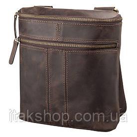Мужская кожаная сумка Shvigel 11103 Коричневая