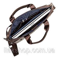 Мужская кожаная сумка Shvigel Коричневая, фото 2