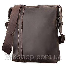 Кожаная мужская сумка Shvigel (Коричневая)