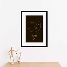 """Постер """"Зодиак: Близнецы"""" фольгированный А3"""