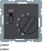 Терморегулятор Berker Q.х, 10А/250В, антрацит (20306086)