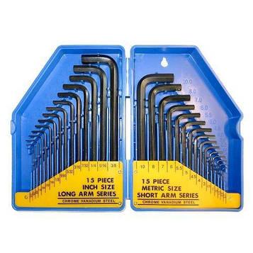 Набор шестигранных ключей S&R HX 30шт в пластиковом кейсе
