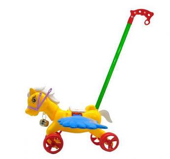 Каталочка  8515-1 (72шт/2)Лошадка желтый.