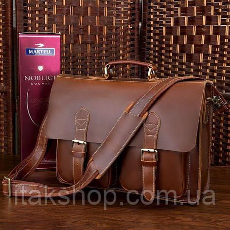 Портфель Vintage 14101 Коричневый, Коричневый, фото 2