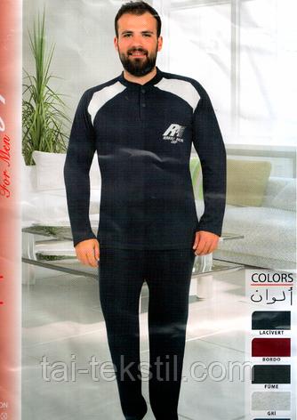 Пижамы мужские с начесом плотная байка Турция FAYFI 841, фото 2