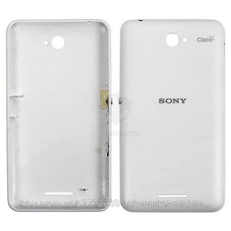Задняя панель корпуса (крышка аккумулятора) для Sony Xperia E4 (E2104, E2105, E2115, E2124) White, фото 2