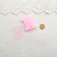 Бобины пластиковые для мулине, 35*38 мм - розовые, 9 шт