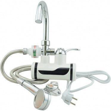Проточный водонагреватель Delimano с душем. Боковое подключение