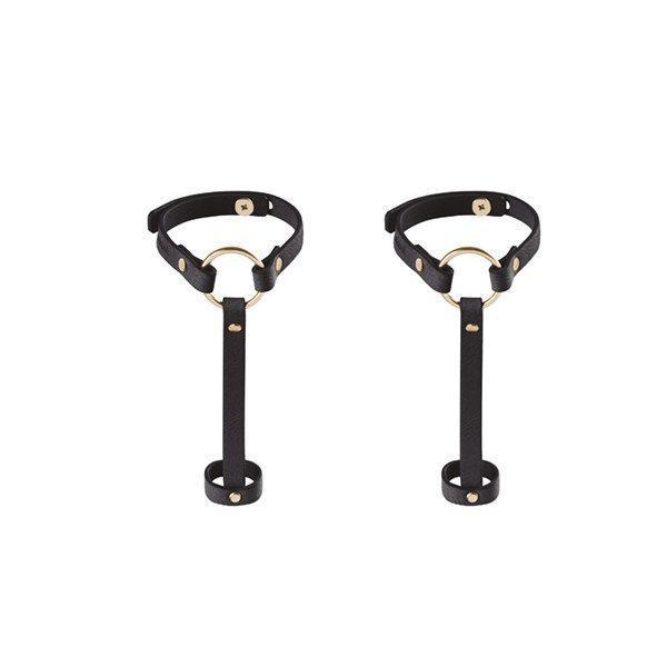 Браслет-украшение БДСМ Bijoux Indiscrets MAZE - Hand Bracelet Harness Black, фото 1