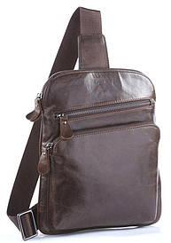 Мужская сумка Vintage через плечо Коричневая + Подарок (Ключница Shvige из натуральной кожи Черная)