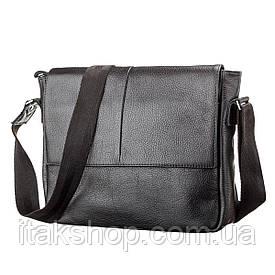Мужская кожаная сумка Shvigel (Черная)