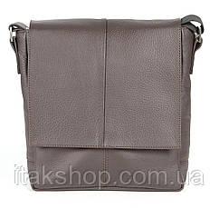 Кожаная мужская сумка Shvigel (Коричневая), фото 2