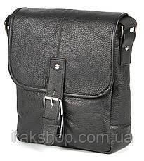 Мужская кожаная сумка Shvigel Черная, фото 3