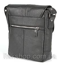Мужская кожаная сумка Shvigel Черная, фото 2