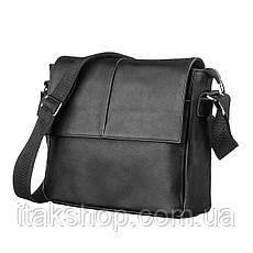 Кожаная мужская сумка Shvigel 00858 Черная + Подарок Ключница, фото 2