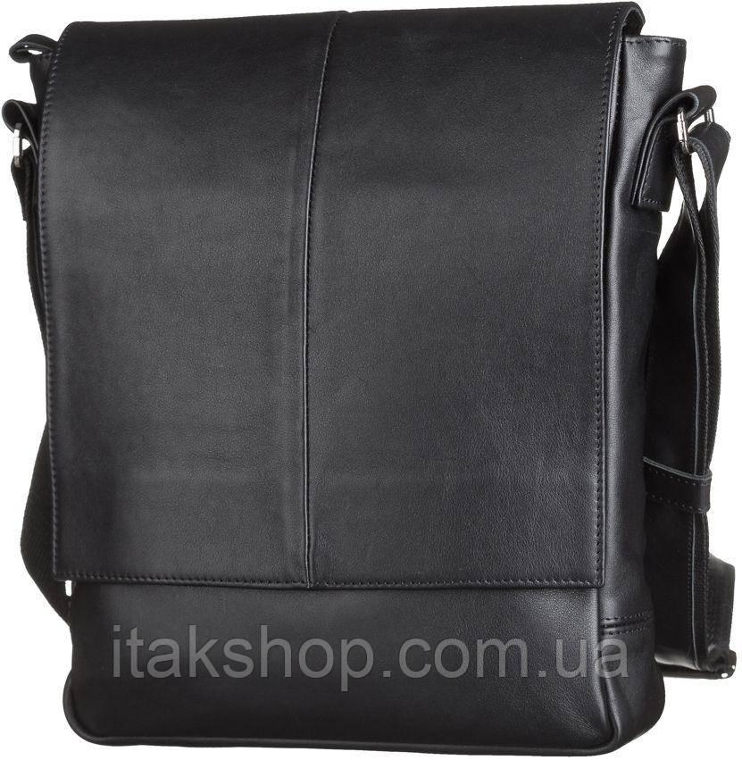 Мужская сумка Shvigel из натуральной кожи Черная
